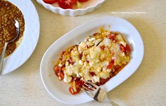 Πιπεριές με τυριά στο τηγάνι