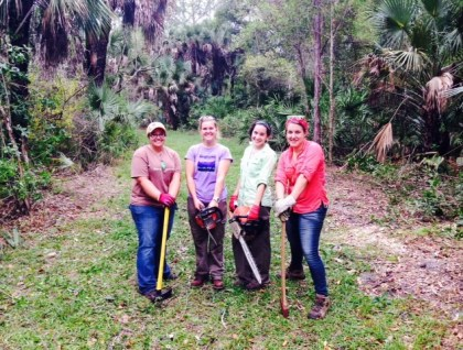 fgcu service learning tree cutting crew