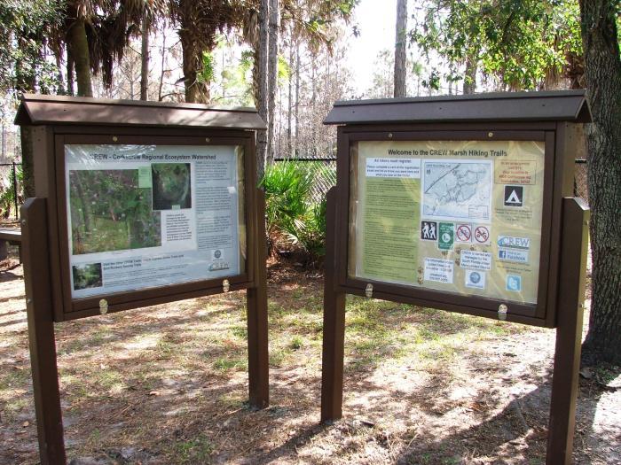 marsh trail kiosks