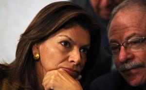 Laura Chinchilla y Luis Liberman. Foto tomada de todonoticia.com