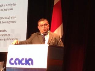 El viceministro de Hacienda, Fernando Rodríguez, dio detalles del proyecto para eliminar exoneraciones.  CRH.