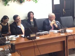 En la imagen Helio Fallas, Ministro de Hacienda. CRH
