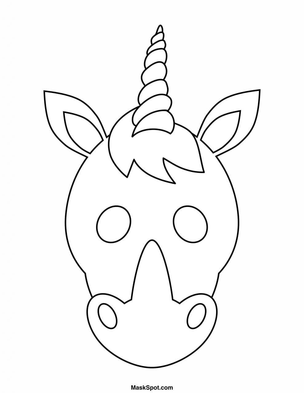 Mascara De Unicornio Para Imprimir