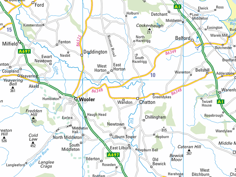 wooler location map