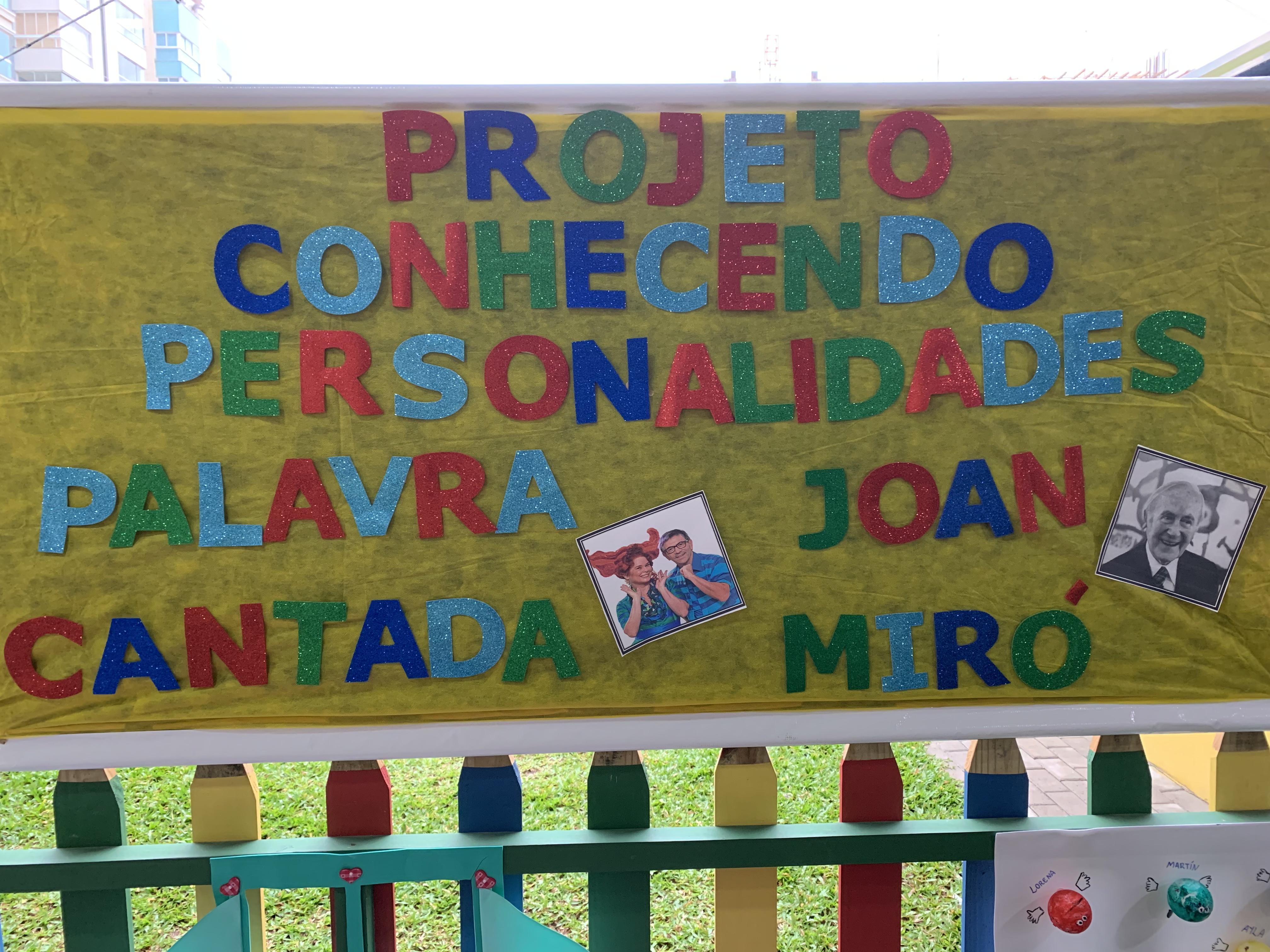 Projeto Conhecendo Personalidades: Joan Miró e Palavra Cantada