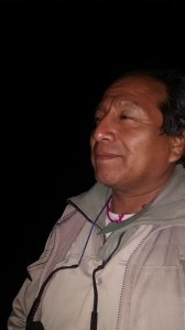 Raúl Sajama integrante comunidad indígena Angosto El Perchel