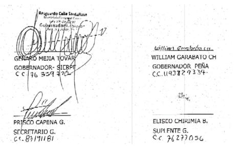 Firma autoridades