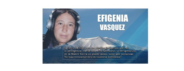 la recuperación de la Madre Tierra no puede morir, tiene que continuar Efigenia Vasquez- Kokonuko