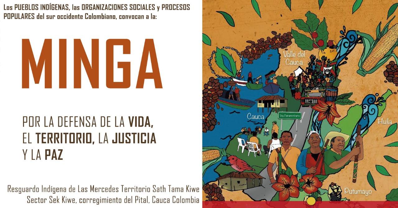[Declaración] Comunidades indígenas y populares se declaran en Minga de Resistencia