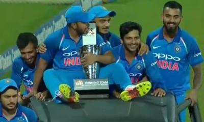 Team India after winning the series