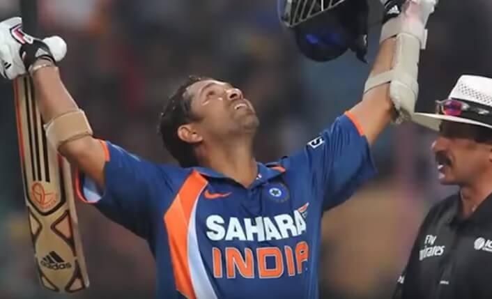Sachin Tendulkar scored the first ever ODI 200