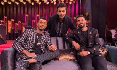 Karan Johar with Hardik Pandya and KL Rahul