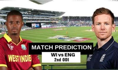 Windies vs England 2nd ODI Match Prediction