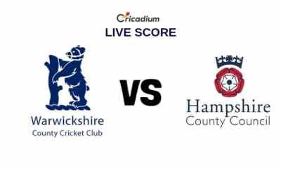 Warwickshire vs Hampshire Live Cricket Score, County Div 1, County Championship 2019 Warks vs Ham Live Score