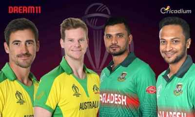 AUS vs BAN Dream 11 team Today Match 26 World Cup 2019: Australia vs Bangladesh Dream 11 Tips