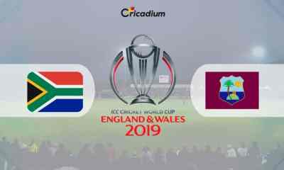 World Cup 2019 Match 15 SA vs WI Live Score: South Africa vs West Indies Live Cricket Score