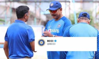 BCCI's post of Rahul Dravid and Ravi Shastri becomes a troll material