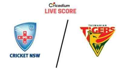 Sheffield Shield 2019-20 4th Match New South Wales vs Tasmania Live Cricket Score