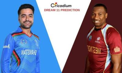 Afghanistan vs West Indies in India, 2019 1st T20I AFG vs WI Dream 11 Team