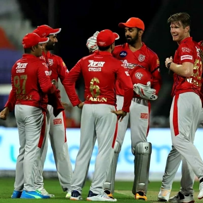 Kings XI Punjab are at the 6th position with 8 points