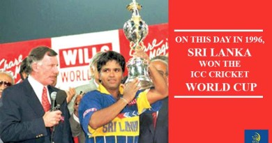 On this day Sri Lanka Wining the 1996 World Cupg 1996