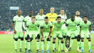 Manchester City Line-up versus Juventus
