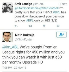 EPL matches to be telecast in SD channels