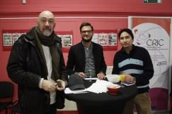 Dominique WATRIN (DISCRI), David TAQUIN, de Microstart et un membre de FEDACTIO.