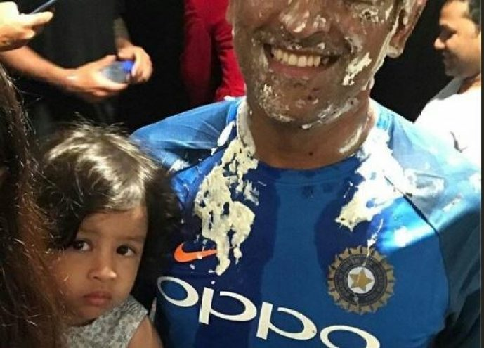 Image result for ms dhoni celebrating b'day