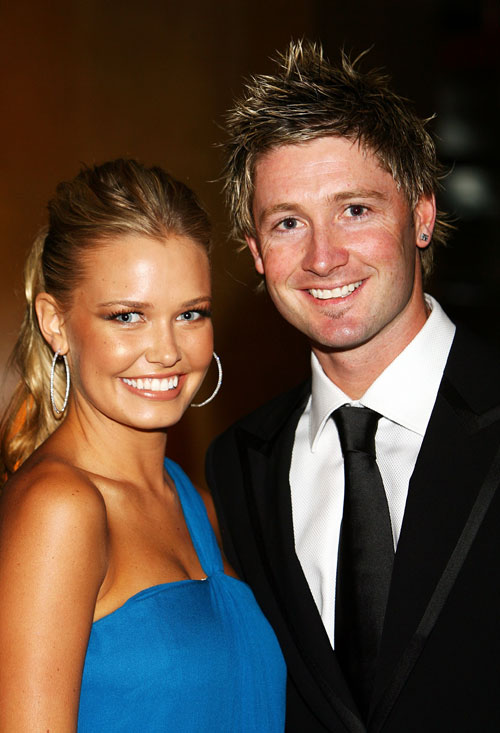 Michael Clarke and partner