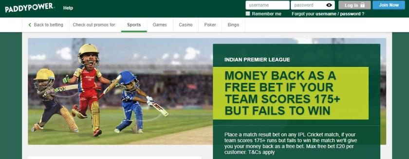 Paddy Power IPL Promotion