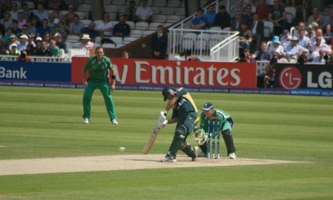 Cricket Right Handed Batsman Playing Shot