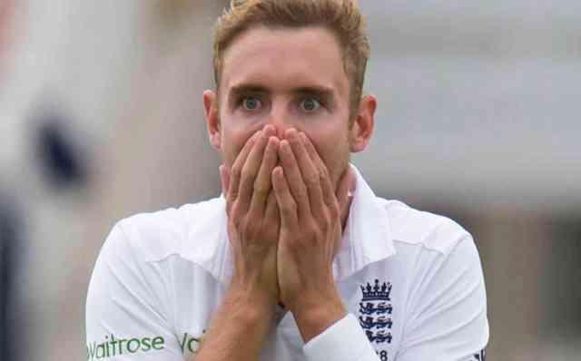 Broad reaction on Ben Stokes dismissed  (AP Photo/Jon Super)