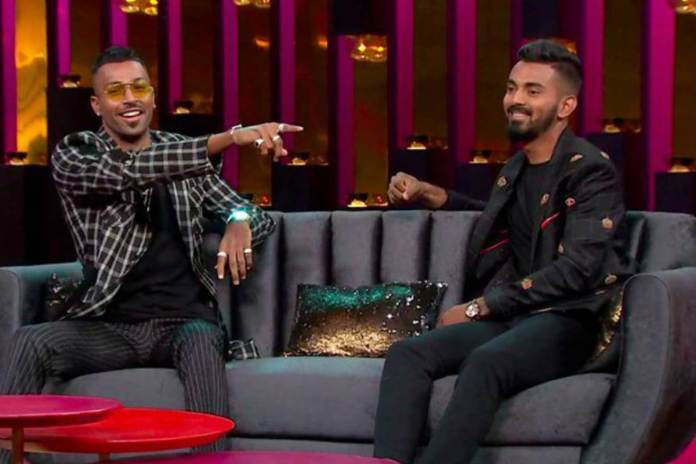 Hardik Pandya and KL Rahul In Koffee With Karan Show