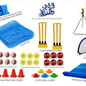 All in one cricket indoor set up