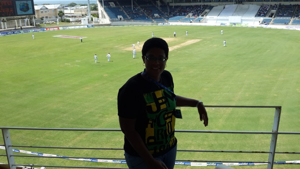 Taken by Peter Matthews in the North Stand at Sabina Park, Kingston, Jamaica on Day 2 of the 2nd Test match between the West Indies and Australia.