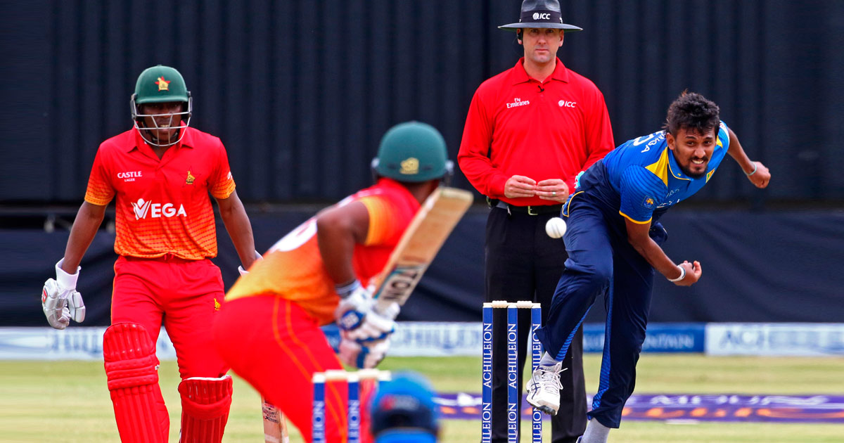 Image result for suranga lakmal vs. zimbabwe