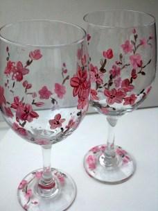 Spring Blossom Wine Glasses