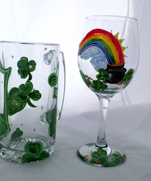 St. Patrick Day Mug & Wine Glass