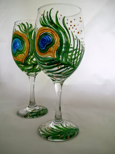 Peacock Wine Glasses