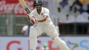 India's Wriddhiman Saha plays a shot