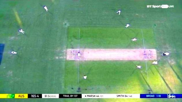 Joe Root's field setting against Shaun Marsh. Image Courtesy: Twitter