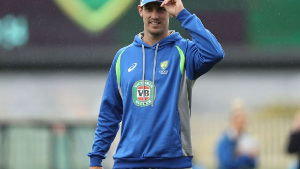 Mitch Marsh of Australia looks on prior to the start of day one of the Second Test