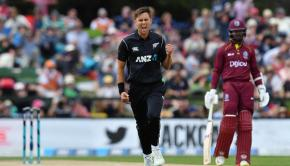 Trent Boult celebrating after wicket