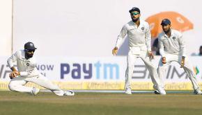 Rahane catching at slips