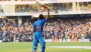 Indian player Virat Kohli leaves after dismissal during the fourth ODI