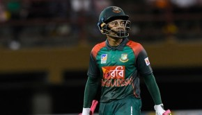 Mushfiqur Rahim of Bangladesh walks off the field