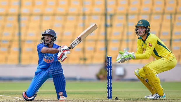 India A batsman Ambati Rayudu plays a shot