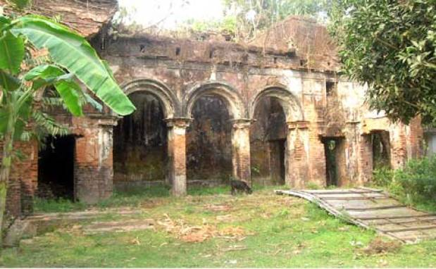 The Masua Zamindarbari at Kotiyadi village, Kishoreganj