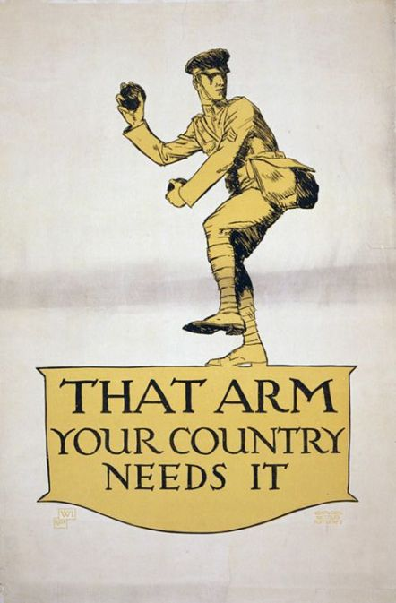 Example of a propaganda poster during World War I. Image Courtesy: Art.com